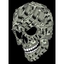 MONEY SKULL PRINT - A3