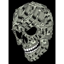 MONEY SKULL PRINT - A2 (mm x mm)