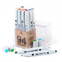 MTN 94 Graphic Markers - Basic Set of 12