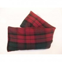 Unscented Microwave wheat bag - Plum tartan cotton