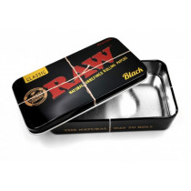 RAW - BLACK Rolling Papers Tobacco Tin