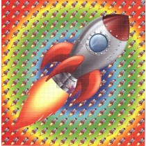 ROCKET SHIP - BLOTTER ART