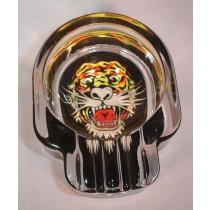 SKULL ASHTRAY - TATTOO TIGER