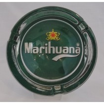 Small Round ASHTRAY - marihuana green