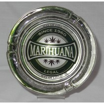 Small Round ASHTRAY - marihuana way of life