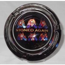 Small Round ASHTRAY - stoned again