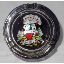 Small Round ASHTRAY - tattoo series - love is not a gamble