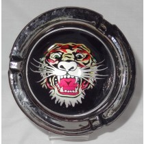 Small Round ASHTRAY - tattoo series - tiger