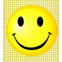 SMILEY FACES - BLOTTER ART