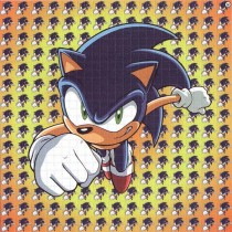 SONIC THE HEDGEHOG - BLOTTER ART