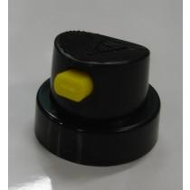 BLACK w YELLOW NOSE CAP