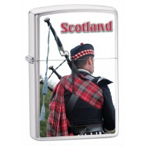 ZIPPO - BRUSHED CHROME SCOTTISH PIPER  (200SCOTP)